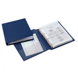 Raccoglitore SANREMO 2000 25 A 4D blu 15x21cm A5 SEI ROTA