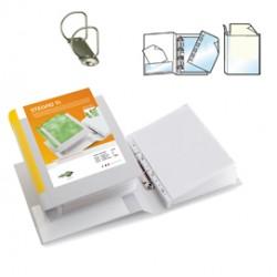 Raccoglitore STELVIO TI 50 A4 2D 22x30cm bianco personalizzabile SEI ROTA