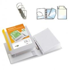 Raccoglitore STELVIO TI 30 A4 4D 22x30cm bianco personalizzabile SEI ROTA