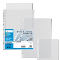 25 BUSTE FORATE 18X24-15 ERCOLE PVC SEI ROTA