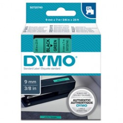NASTRO DYMO TIPO D1 (9MMX7M) NERO/VERDE 409190