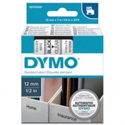 NASTRO DYMO TIPO D1 (12MMX7M) NERO/TRASPARENTE 450100