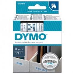 NASTRO DYMO TIPO D1 (12MMX7M) BLU/BIANCO 450140