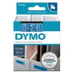 NASTRO DYMO TIPO D1 (12MMX7M) NERO/BLU 450160