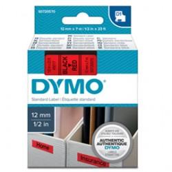 NASTRO DYMO TIPO D1 (12MMX7M) NERO/ROSSO 450170