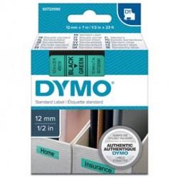 NASTRO DYMO TIPO D1 (12MMX7M) NERO/VERDE 450190