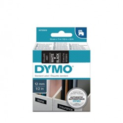 NASTRO DYMO TIPO D1 (12MMX7M) BIANCO/NERO 450210