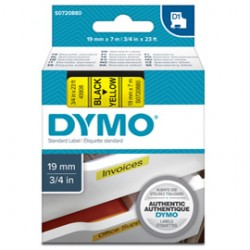 NASTRO DYMO TIPO D1 (19MMX7MT) NERO/GIALLO 458080