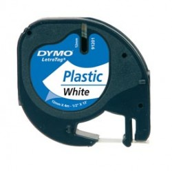 NASTRO IN PLASTICA DYMO LETRATAG 12MMX4M BIANCO 912010
