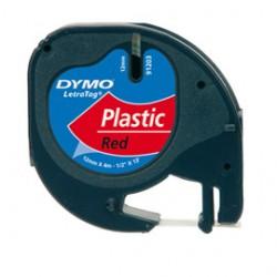 NASTRO IN PLASTICA DYMO LETRATAG 12MMX4M ROSSO 912030