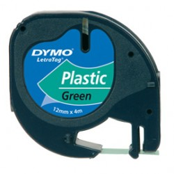 NASTRO IN PLASTICA DYMO LETRATAG 12MMX4M VERDE 912040