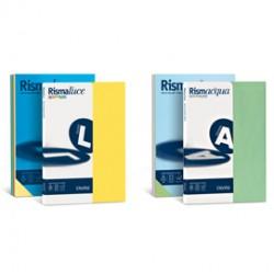 Carta RISMACQUA 140gr A4 200fg mix 5 colori FAVINI