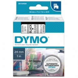 NASTRO DYMO TIPO D1 (24MMX7MT) NERO/TRASPARENTE 537100
