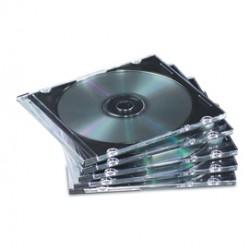 SCATOLA 25 CUSTODIE CD Jewel Case Slim - colore trasparente - FELLOWES