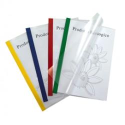 10 cartelline Poli 200 210x297mm PP trasparente dorso rosso Sei Rota