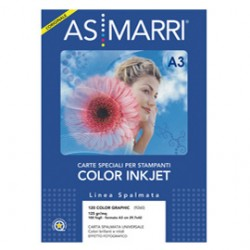 CARTA INKJET A3 125GR 100FG COLOR GRAPHIC EFFETTO PHOTO 9260 AS MARRI