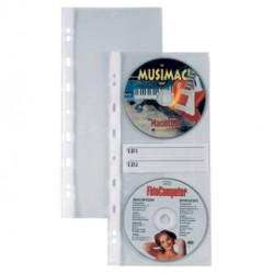 10 BUSTE FORATE ATLA CD2 12,5X30CM PER 2CD/DVD