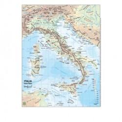 CARTA GEOGRAFICA SCOLASTICA PLASTIFICATA ITALIA 297X420MM BELLETTI
