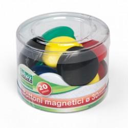BARATTOLO 20 MAGNETI TONDI  30MM COLORI ASS. ART.2141