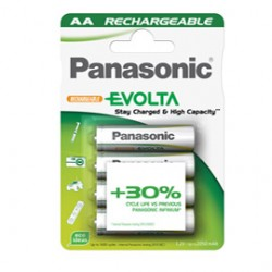 BLISTER 4 PILE STILO RICARICABILI AA 1,2V INFINIUM PANASONIC