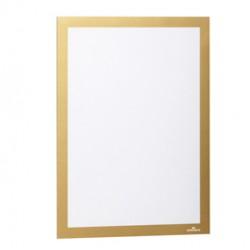 Cornice espositiva adesiva Duraframe A4 21x29,7cm oro DURABLE