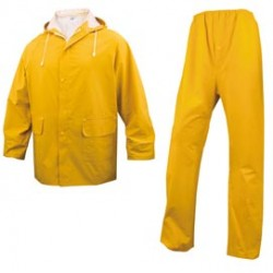 COMPLETO IMPERMEABILE EN304 Tg. XL giallo (giacca+pantalone)