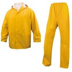 COMPLETO IMPERMEABILE EN304 Tg. L giallo (giacca+pantalone)