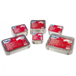 Pack 50 Contenitori alluminio 3 Porzioni + coperchio Cuki