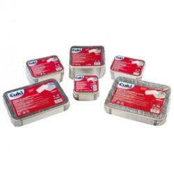 Pack 25 Contenitori alluminio 8 Porzioni + coperchio Cuki