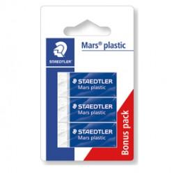Blister 3 gomme Marsplastic mini 526 53 bianca STAEDTLER