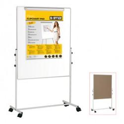 Lavagna Duo a doppia superficie 100x100cm Bi-Office