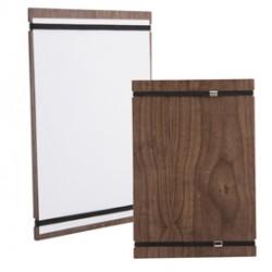 Porta MenU Tablet in legno con elastici 32x22cm Securit