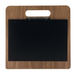 Porta menU Chopping Board in legno con anelli 32,7x30cm Securit
