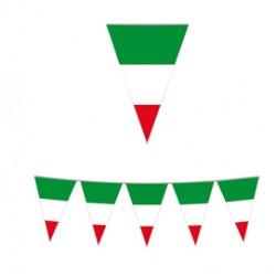 Festone bandiere Italia lungh.10mt Big Party