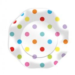 10 piatti Pois multicolor 23cm Big Party
