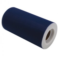 Tulle in rotolo 12,5cmx25mt blu Big Party