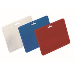 100 Portanome 60x90mm orizzontale Blu Durable