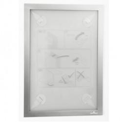 Cornice adesiva Duraframe Wallpaper A4 21x29,7cm argento DURABLE