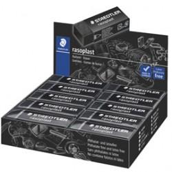 Box 20 gomme Rasoplast 526 B20-9 dim.63x13x23mm nera per matita Staedtler