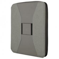 Portablocco Canvass in tela c/zip dim. 26x33cm grigio INTEMPO