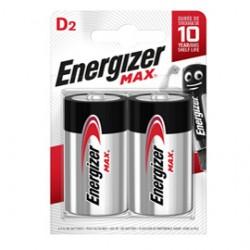 Blister 2 pile torcia D - Energizer Max