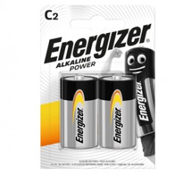 Blister 2 pile mezza torcia C - Energizer Alkaline Power