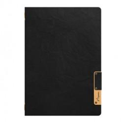 Porta MenU A4-24,5x34cm Nero Nature con 1 INSERTO DOPPIO