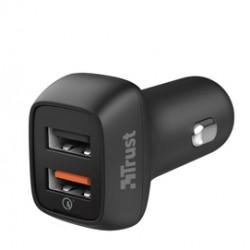 Caricabatterie ultrarapido con 2 porte USB da auto QC3 Qmax - Trust