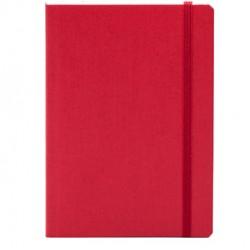 Taccuino c/elastico EcoQua rosso f.to A5 80pag. carta bianca Fabriano