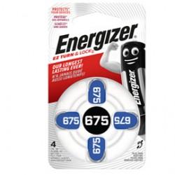 Blister 4 pile per apparecchi acustici 675 Zinc Air Energizer