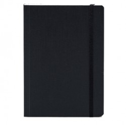 Taccuino c/elastico EcoQua nero f.to A5 80pag. carta puntinata Fabriano