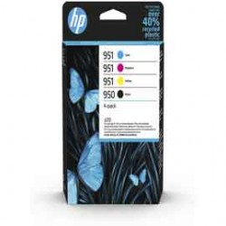 Hp COMBO PACK 4 CARTUCCE INK OFFICEJET HP 950 NERO 951 CIANO MAG GIALLO