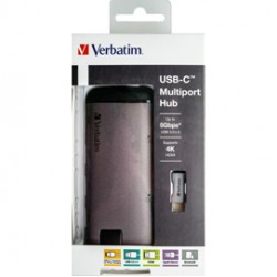 Verbatim USB-C ADAPTER USB 3.1 G1 / USB 3.0 X 3 / HDMI / SDHC / MICRO SDHC / R